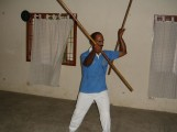 Dr Kannan Pugazhendi demonstrating martial art