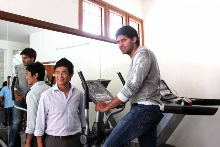 Aarya & Baichung Bhutia Launching Sparrc Institute Hyderabad
