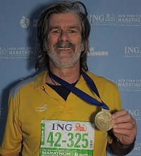 "Marathon Runner Mr Willi Wilson says ""I have the medal…I ran it.. an achievement I share with Doc Kannan & his team"""