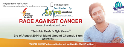 Run Against Cancer Chennai 2014