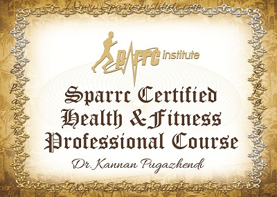 Sparrc Certified Health & Fitness Professional – Chennai August 2015