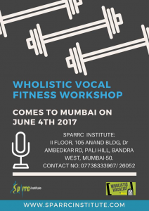 Vocal Fitness Mumbai April24th